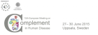 Conference: 15th European Meeting on Complement in Human Disease